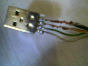 Hasil Sambungan USB dan UTP kabel